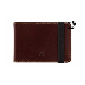 Leather Bifold Wallet A-Slim Kihaku Brown